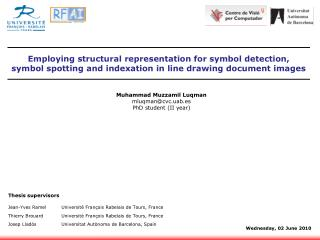 Muhammad  Muzzamil Luqman mluqman@cvc.uab.es PhD  student  (II  year )
