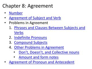 Chapter 8: Agreement