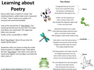 Learning about Poetry