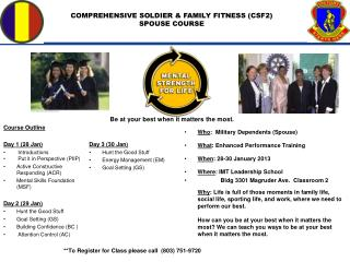 COMPREHENSIVE SOLDIER & FAMILY FITNESS (CSF2) SPOUSE COURSE