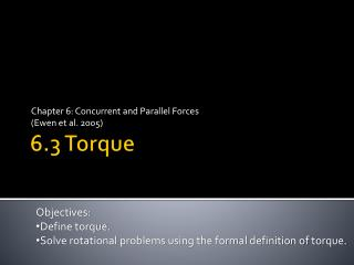 6.3 Torque