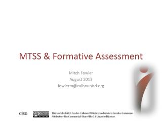 MTSS & Formative Assessment