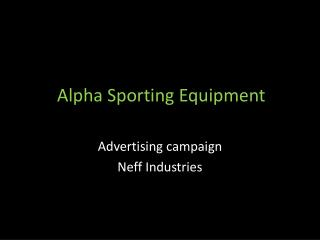 Alpha Sporting Equipment