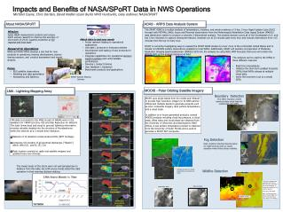 Impacts and Benefits of NASA/ SPoRT  Data in NWS Operations