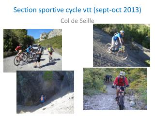 Section sportive cycle vtt (sept- oct  2013)