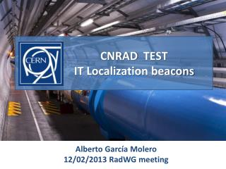 CNRAD   TEST IT Localization beacons