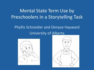 Mental State Term Use by Preschoolers in a Storytelling Task