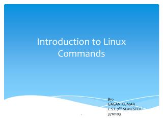 Introduction to Linux Commands