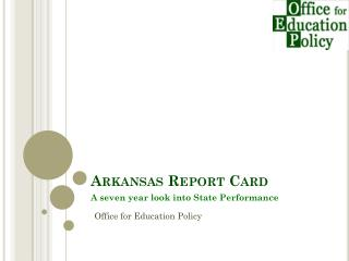Arkansas Report Card