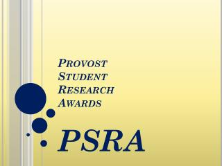 Provost Student Research Awards