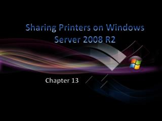 Sharing Printers on Windows Server 2008 R2