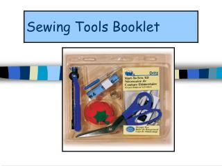 Sewing Tools Booklet