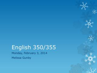 English 350/355