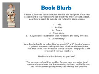Book Blurb