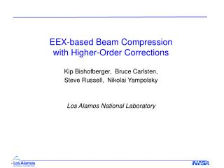 EEX-based Beam Compression  with Higher-Order Corrections