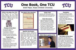 What is One Book, One TCU?