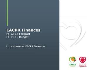 EACPR Finances FY 13-14  Forecast FY 14-15 Budget