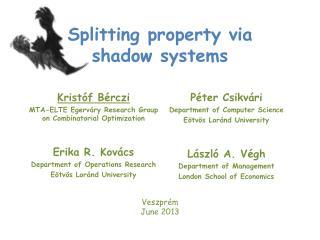 Splitting property via shadow systems