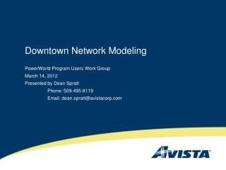 Downtown Network Modeling
