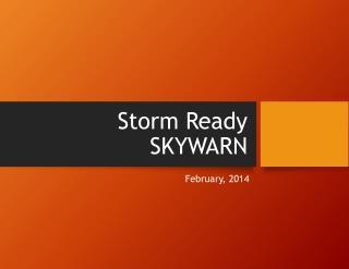 Storm Ready SKYWARN