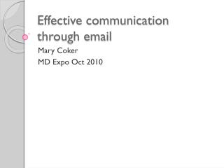 Effective communication through email