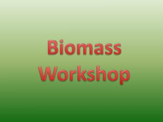 Biomass Workshop
