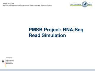 PMSB Project: RNA- Seq  Read Simulation