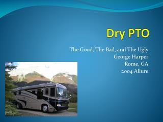Dry PTO