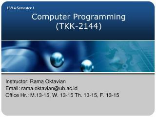 Computer Programming (TKK-2144)