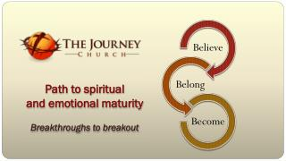 Path  to spiritual  and emotional maturity Breakthroughs  to  breakout