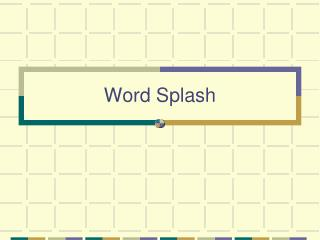 Word Splash
