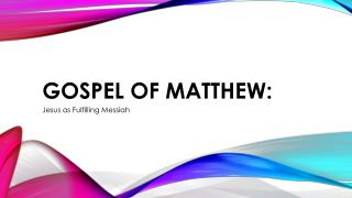 Gospel of Matthew: