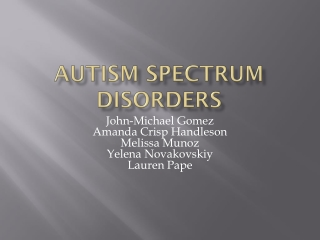 Motor Skills Disorder Communication Disorders