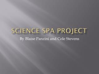 Science Spa Project
