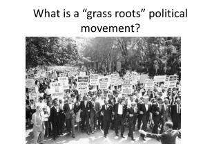 "What is a ""grass roots"" political movement?"