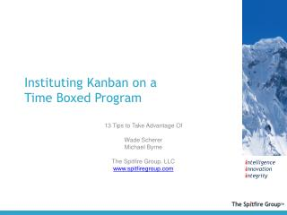 Instituting  Kanban  on a  Time Boxed Program