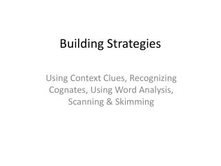 Building Strategies