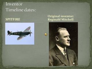 Inventor Timeline dates: