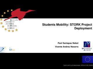 Students Mobility: STORK Project Deployment