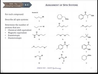Assignment of Spin Systems