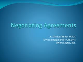 Negotiating Agreements