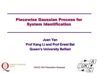 Piecewise Gaussian Process for  System Identification