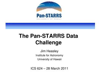 The Pan-STARRS Data Challenge