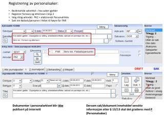 Registrering av personalsaker: Beskrivende sakstittel – hva saken gjelder