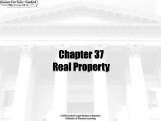 Chapter 37 Real Property