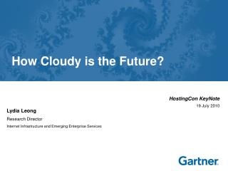 How Cloudy is the Future?