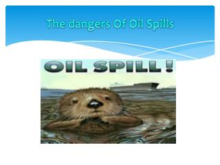 T he dangers Of Oil Spills