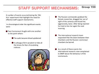 STAFF SUPPORT MECHANISMS: