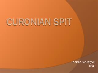 C uronian spit