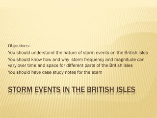 Storm events in the  british  Isles